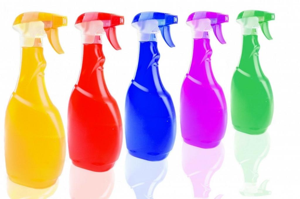 Colorful Spray Bottles COVID-19 Coronavirus